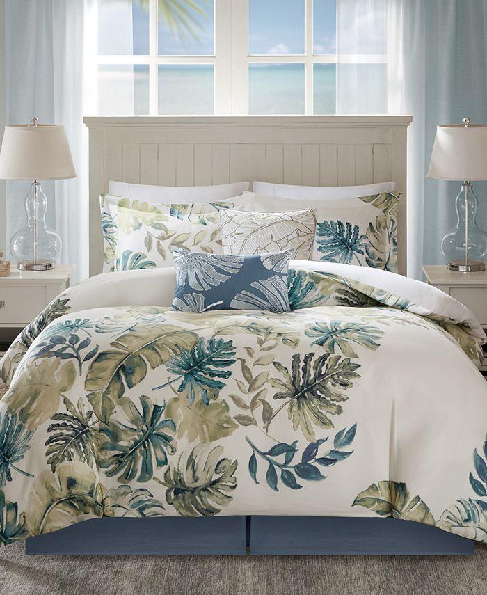 Harbor House - Lorelai Reversible 6-Pc. Palm-Print California King Comforter Set