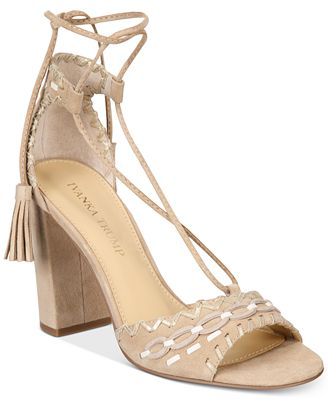 Ivanka Trump Karita Lace-Up Block-Heel Sandals