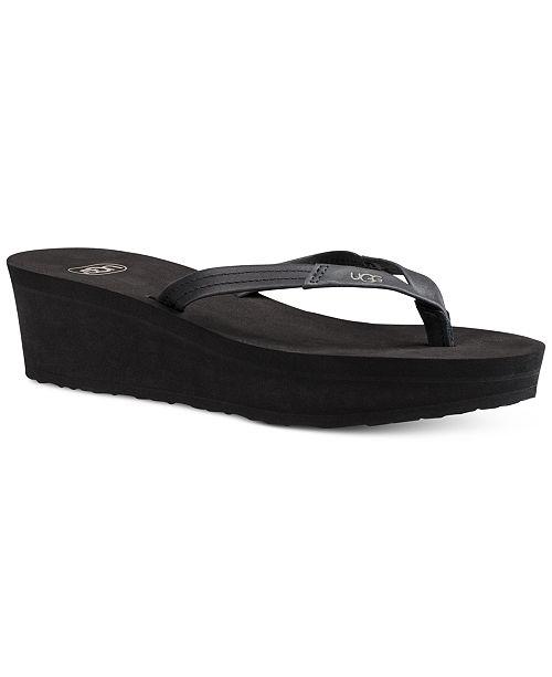 0ee5f84ae614 UGG® Ruby Wedge Flip-Flop Sandals   Reviews - Sandals   Flip ...