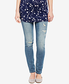 Motherhood Maternity Medium Wash Distressed Skinny Jeans