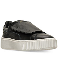 Puma Women's Basket Platform Strap Casual Sneakers from Finish Line