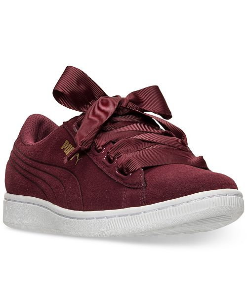Puma Women s Vikky Ribbon Casual Sneakers from Finish Line   Reviews ... 244f8a4a4
