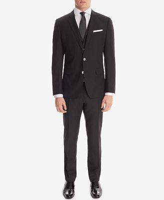 BOSS Men's Slim-Fit 3-Piece Suit - Suits & Suit Separates - Men ...