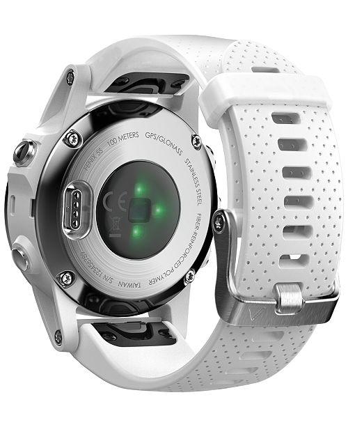 Garmin Unisex fenix® 5S White Silicone Strap GPS Touch