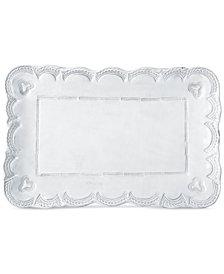 Vietri Incanto Lace Small Rectangular Platter