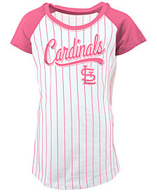 5th & Ocean St. Louis Cardinals Pinstripe T-Shirt, Girls (4-16)