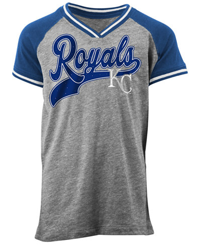 5th & Ocean Kansas City Royals Rhinestone Script T-Shirt, Girls (4-16)