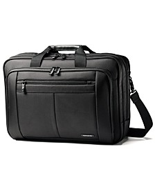 Classic Three Gusset Toploader Laptop Briefcase