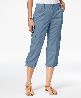 Style & Co Cargo Capri Pants, Created for Macy's - Pants - Women ...