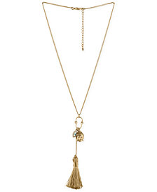 RACHEL Rachel Roy Gold-Tone Triple Charm Pendant Necklace