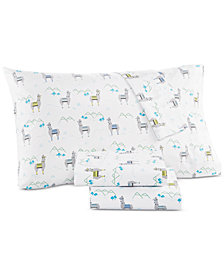 Whim by Martha Stewart  Collection Novelty Print Standard Pillowcase Pair, 200 Thread Count 100% Cotton Percale, Created for Macy's