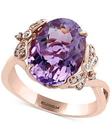 Viola by EFFY® Pink Amethyst (5-9/10 ct. t.w.) and Diamond (1/10 c.t.t.w.) Ring in 14k Rose Gold