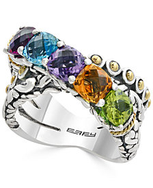 Balissima by EFFY® Multi-Gemstone Statement Ring (4 ct. t.w.) in Sterling Silver and 18k Gold
