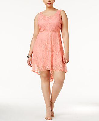 Love Squared Trendy Plus Size Lace A-Line Dress