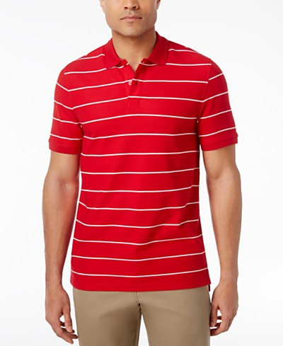 Club Room Men's Striped Pique Polo, Created for Macy's