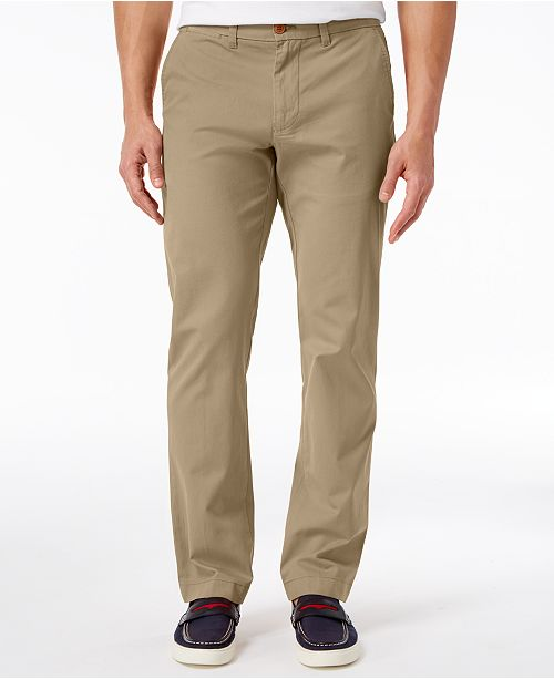 5185ef27 ... Tommy Hilfiger Men's TH Flex Stretch Custom-Fit Chino Pant, Created for  Macy's ...