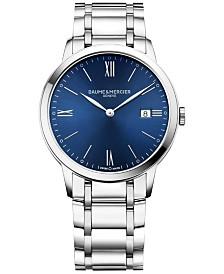Baume & Mercier Men's Swiss Classima Stainless Steel Bracelet Watch 40mm M0A10382