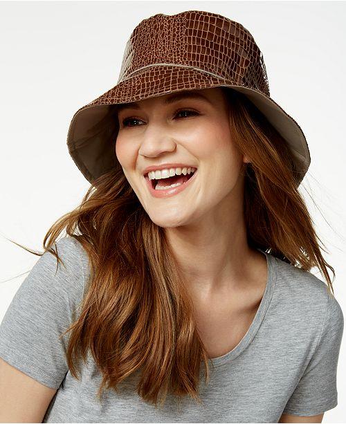 Nine West Reversible Rain Bucket Hat - Handbags   Accessories - Macy s 9dd35e28d0e