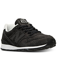 New Balance Women's 696 Denim Casual Sneakers from Finish Line