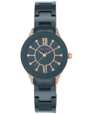8070ddd79 Anne Klein Women's Blue Ceramic Bracelet Watch 30mm AK-2388RGNV & Reviews -  Watches - Jewelry & Watches - Macy's