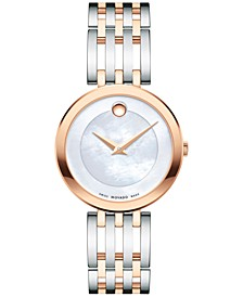 Women's Swiss Esperanza Two-Tone PVD Stainless Steel Bracelet Watch 28mm 0607114, Created for Macy's