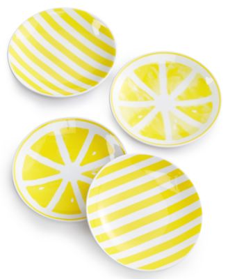 With A Twist 4-Pc. Tidbit Plate Set, Created for Macy's