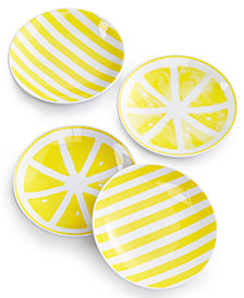 kate spade new york With A Twist 4-Pc. Tidbit Plate Set, Created for Macy's