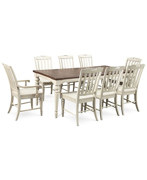 Furniture Barclay Expandable Dining Room Furniture, 9-Pc. Set (Dining Table, 6 Side Chairs & 2 Arm Chairs)