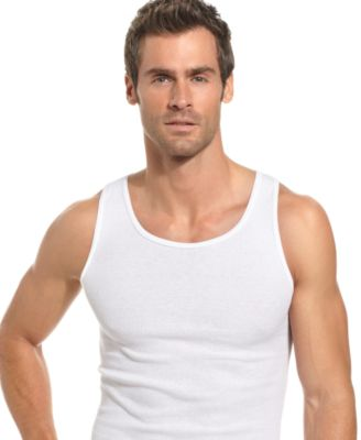Image of Alfani Men's Underwear, Tagless Ribbed Tank Top 5 Pack