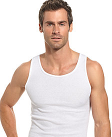 Alfani Men's Underwear, Big & Tall Tagless Tank 4 Pack