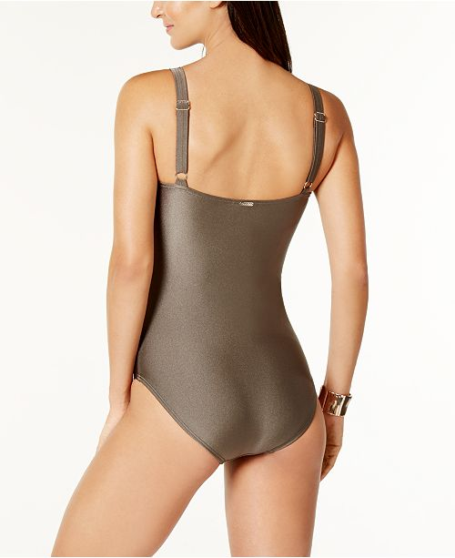 145fcc313b511 Calvin Klein Starburst One-Piece Swimsuit, Created for Macy's ...