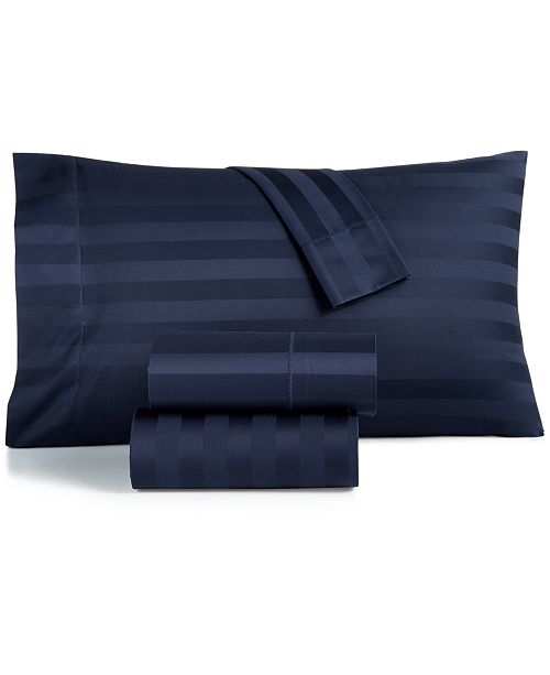Charter Club Stripe Queen 4-Pc Sheet Set, 550 Thread Count 100% Supima Cotton, Created for Macy's