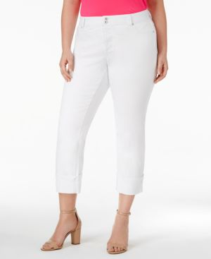 I.n.c. Plus Size Cuffed Skinny Jeans, Created for Macy's 4501181