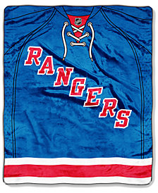 Northwest Company New York Rangers Raschel Stamp Throw Blanket