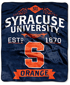 Northwest Company Syracuse Orange Raschel Rebel Throw Blanket