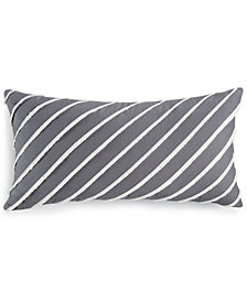 "Martha Stewart Collection Eyelash Stripe 12"" x 24"" Decorative Pillow, Created for Macy's"