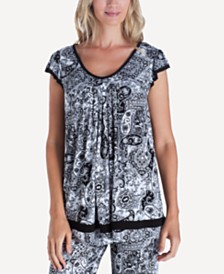 Ellen Tracy Yours to Love Short Sleeve Top