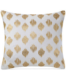 "INK+IVY Nadia Embroidered Dot 18"" Square Decorative Pillow"