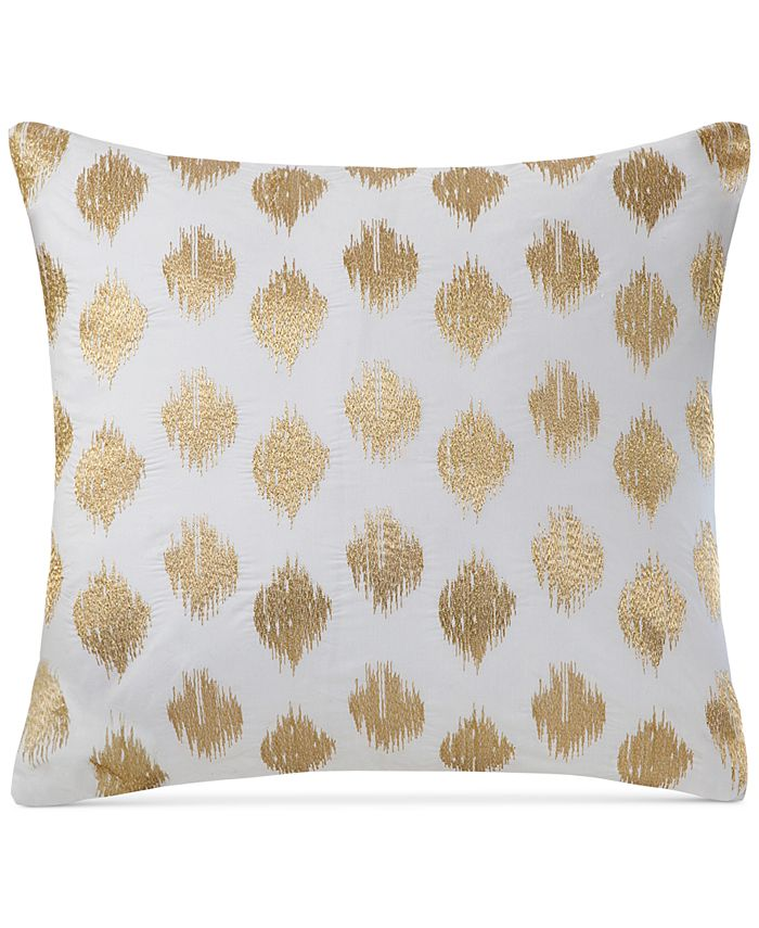 """INK+IVY - Nadia Embroidered Dot 18"""" Square Decorative Pillow"""
