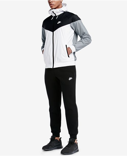 separation shoes eff49 bc767 Nike Men s Windrunner Colorblocked Jacket   Fleece Jogger Pants