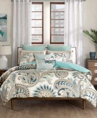 Mira Cotton Reversible Paisley Print Full/Queen Duvet Mini Set