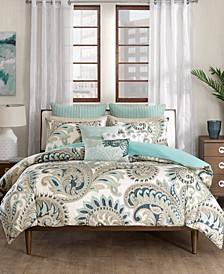 Mira Reversible Paisley Print Full/Queen Comforter Mini Set