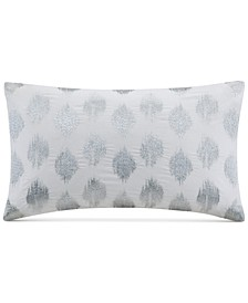 """Nadia Embroidered Dot 12"""" x 18"""" Decorative Pillow"""