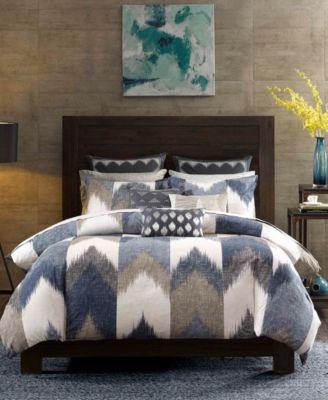 Alpine Reversible Full/Queen Chevron Stripe Print Comforter Mini Set