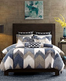 Alpine Reversible Full/Queen Chevron Stripe Print Comforter Mini Set