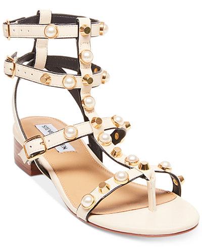 Steve Madden Women's Crowne Embellished Gladiator Sandals