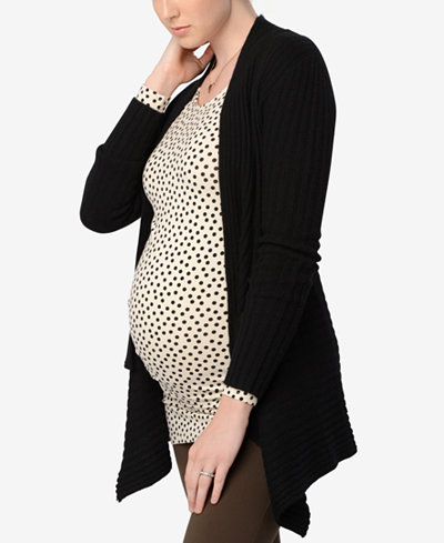 Autumn Cashmere Maternity Open-Front Cardigan