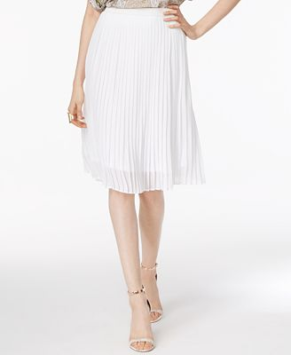 Olivia & Grace Pleated A-Line Skirt, Created for Macy's