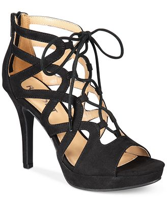 Report Laxy Lace-Up Platform Sandals