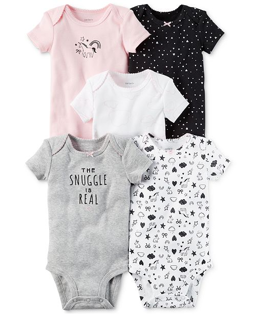 0ca3a4be9 Carter s 5-Pk. Cotton The Snuggle Is Real Bodysuits